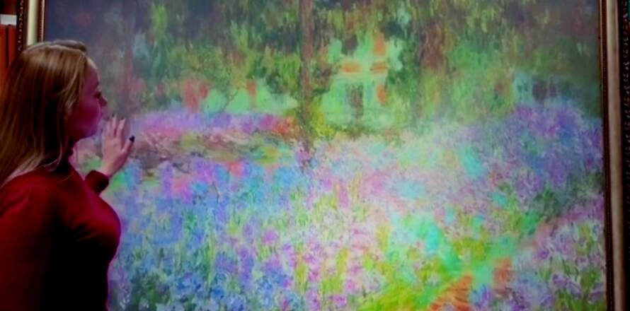 Claude Monet interactive projection